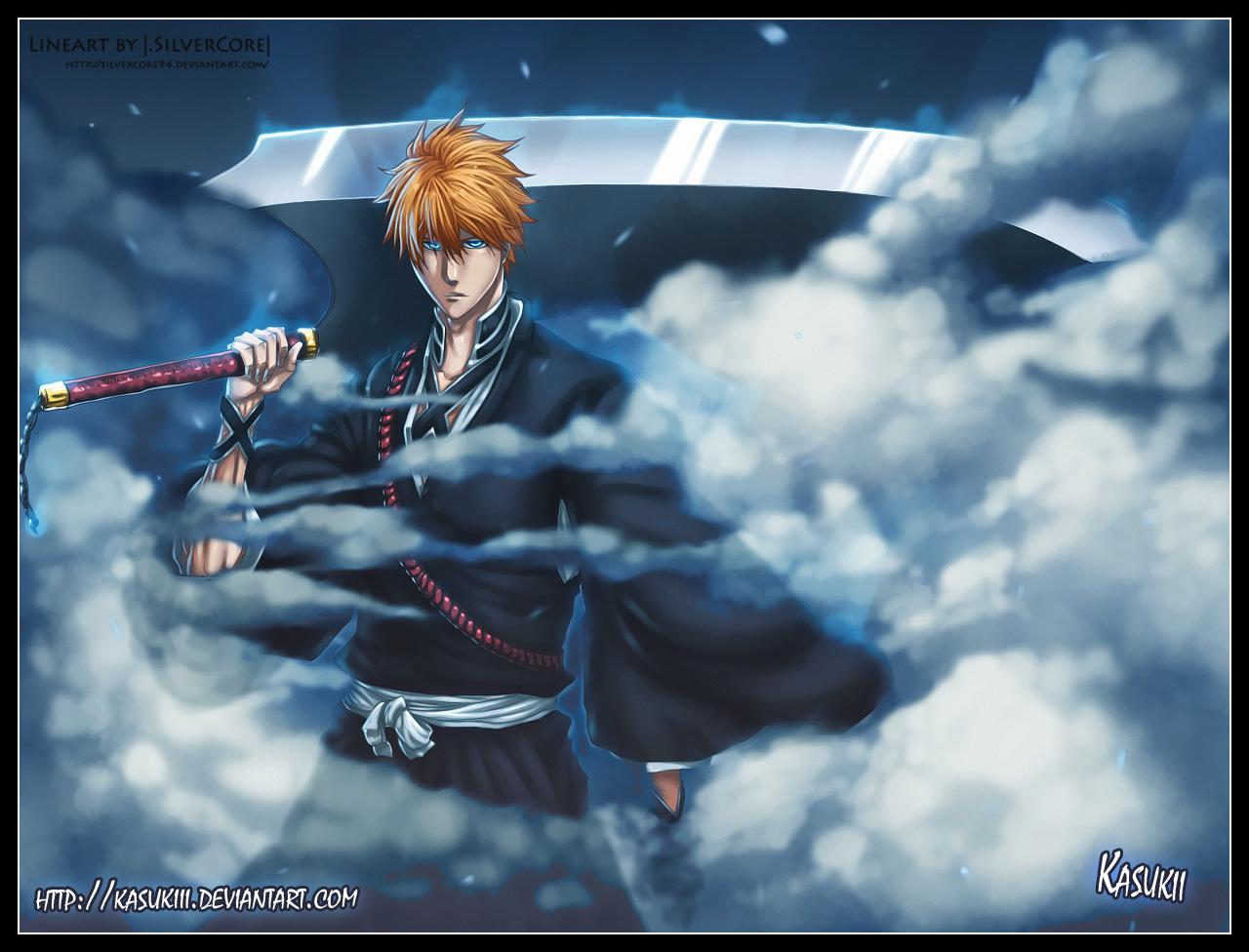 Ichigo Kurosaki New Look And Sword