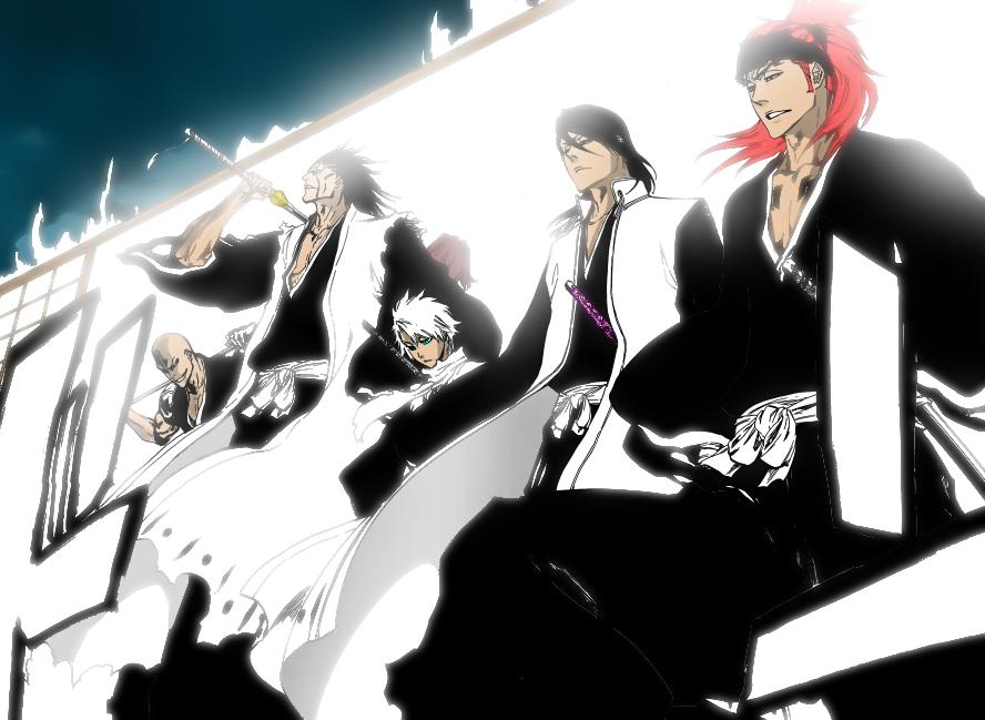 Madarame, Zaraki, Hitsugaya, Byakuya and Renji New Look ...