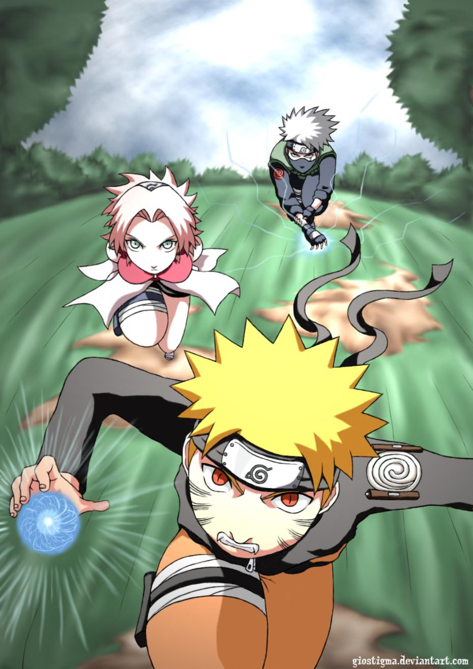 Team kakashi team 7 daily anime art - Manga kakashi ...