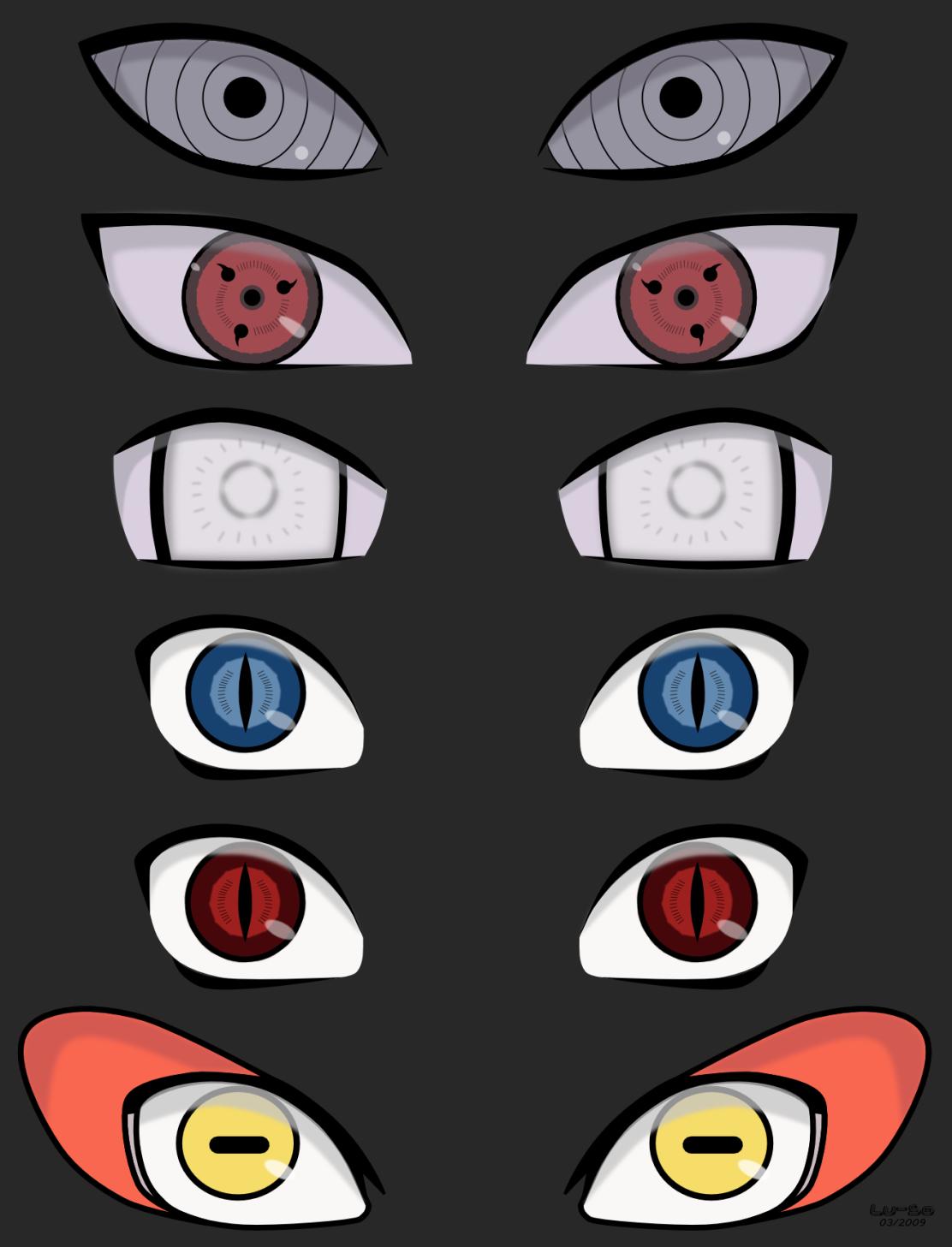Eyes Of The Naruto World!