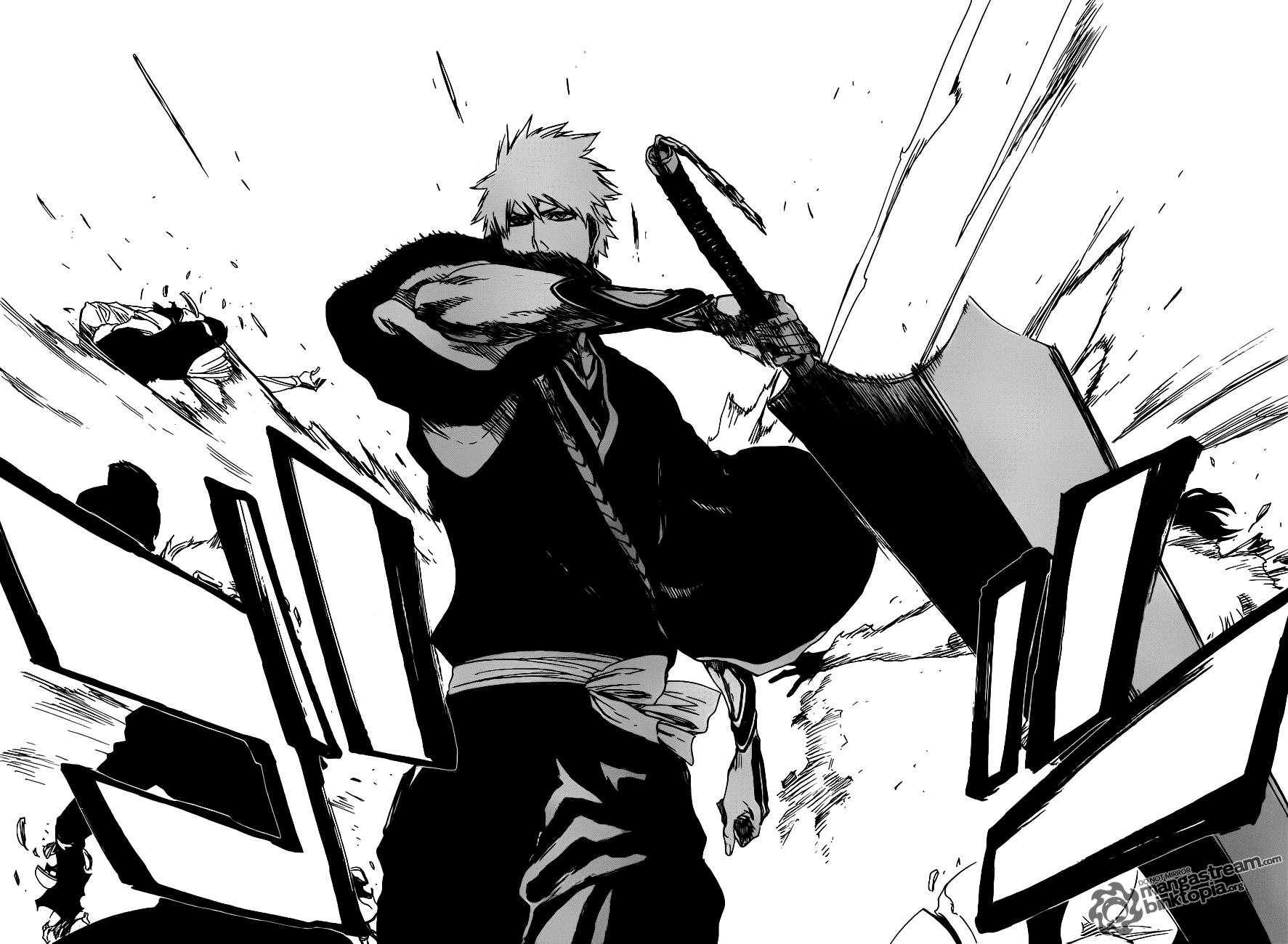 Ichigo Kurosaki Attack Bleach 463 Daily Anime Art