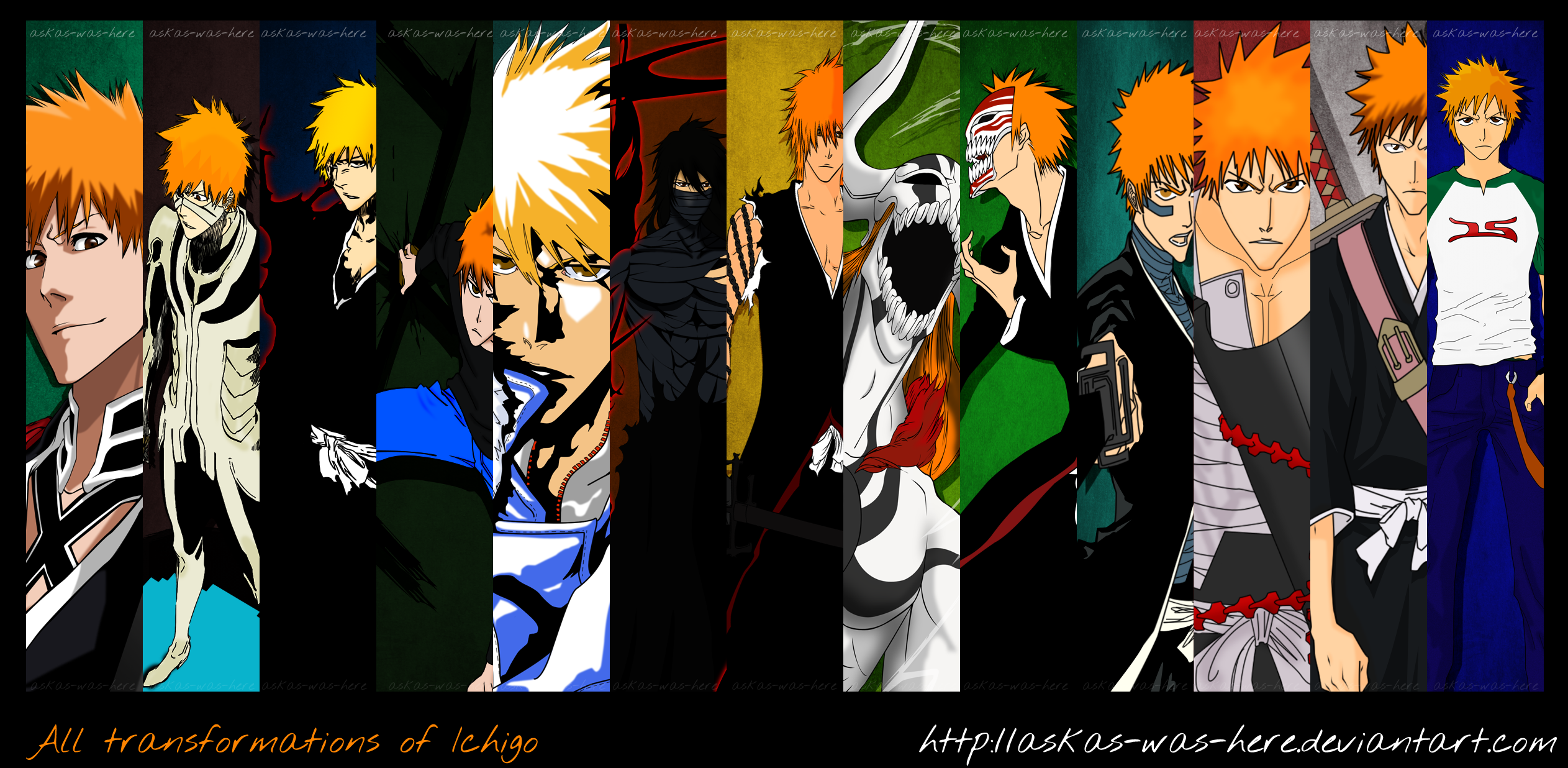 All These Transformations Throughout Bleach