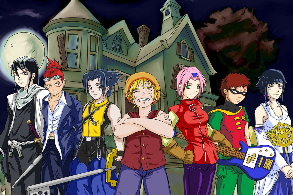 Anime Characters For Halloween : Naruto anime halloween daily art