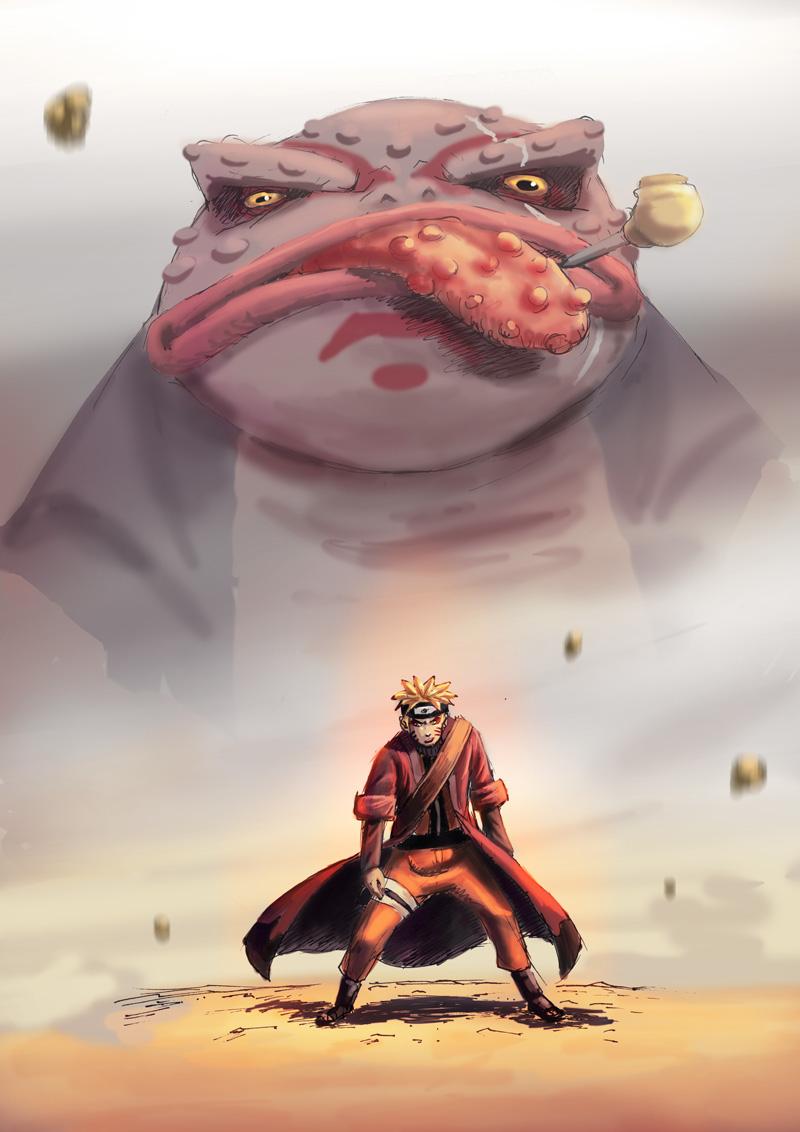 Naruto's Sage Mode | Daily Anime Art  Naruto's Sage...
