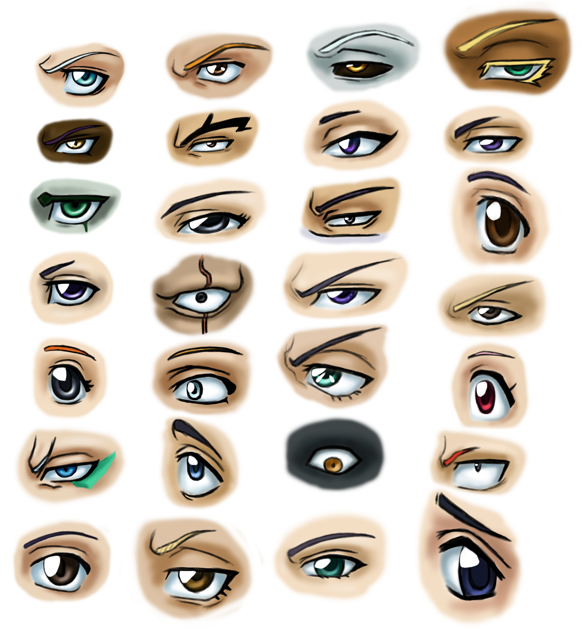 Anime Characters Eyes : Eyes of all bleach characters daily anime art