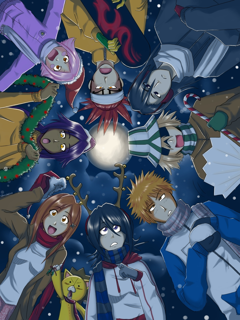 bleach christmas 2011 daily anime art