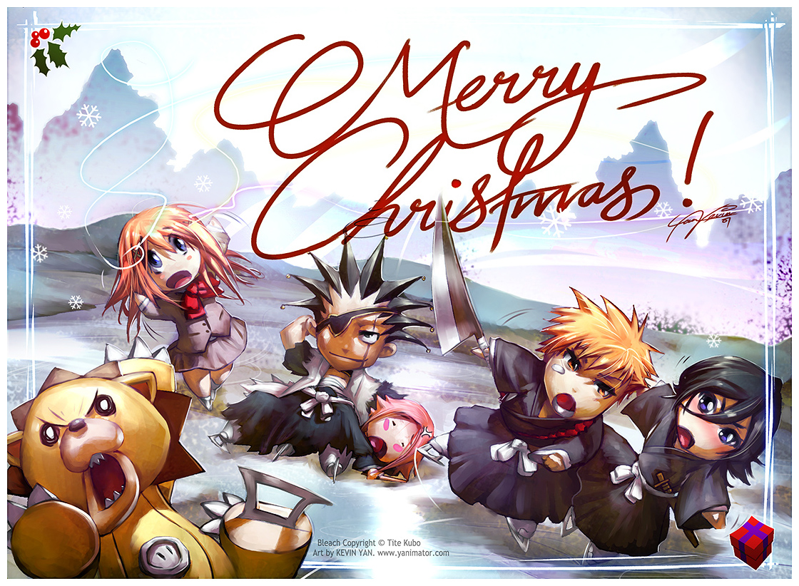 Bleach Christmas 2011 Daily Anime Art