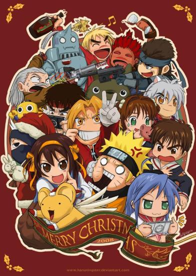 Anime Merry Christmas.Merry Christmas 2013 Daily Anime Art