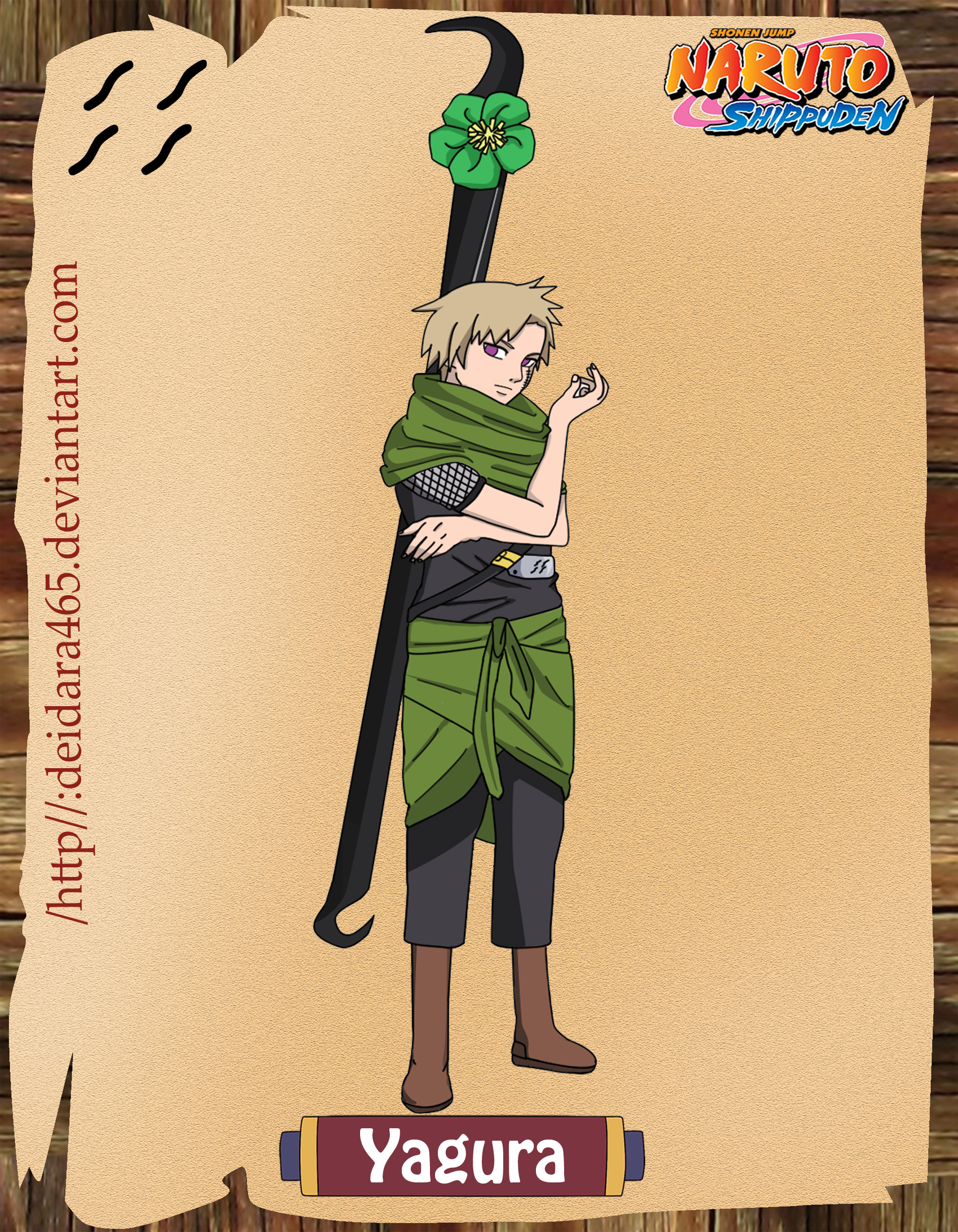 Yagura – Three-Tailed Jinchuuriki | Daily Anime Art Yagura Three Tails