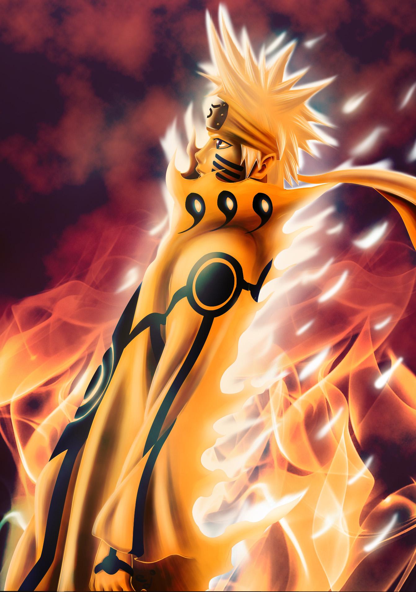 Naruto's Bijuu Mode Archives - Daily Anime Art