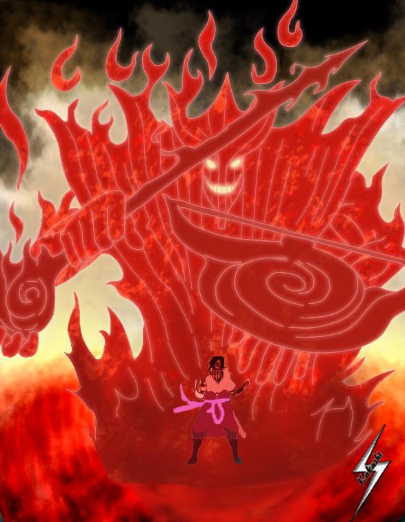 Bijuu Mode vs Susanoo – Naruto vs Sasuke | Daily Anime Art