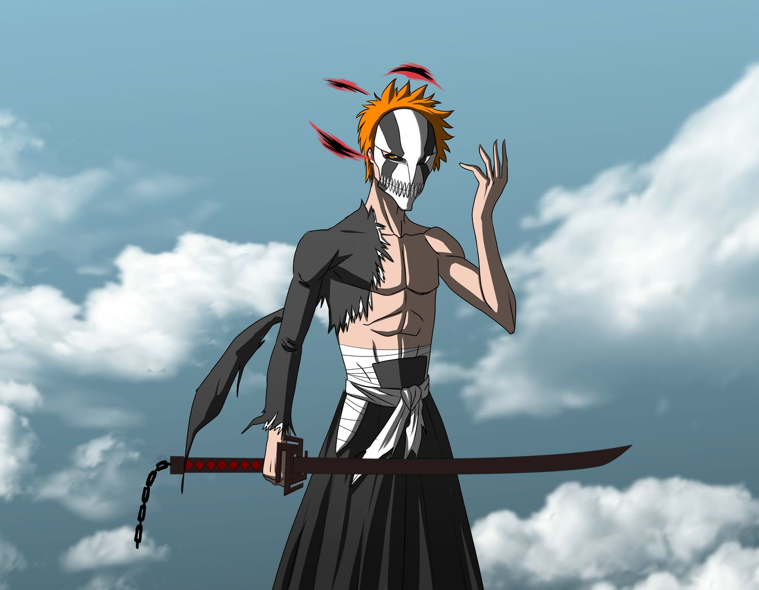 Ichigo hollow mask bankai