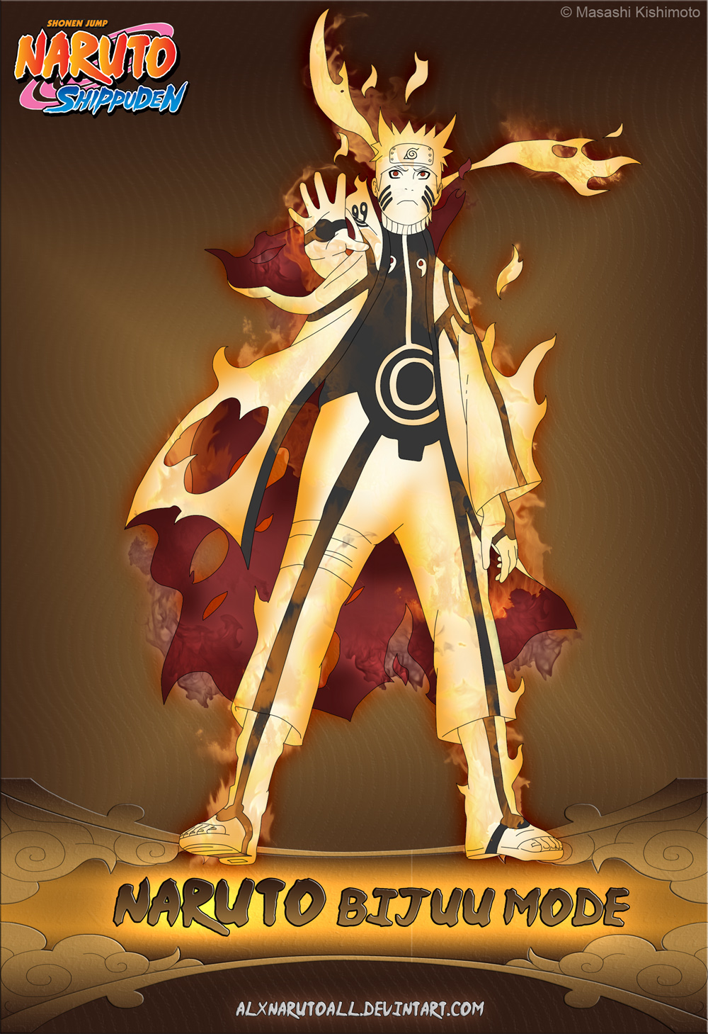 In what form/state is Naruto more badass in?