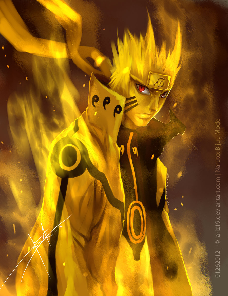 naruto bijuu mode vs sasuke EMS! by nikocopado on DeviantArt