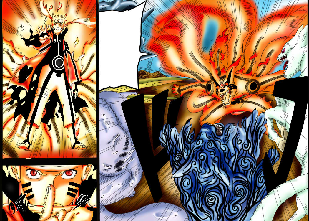 Naruto Bijuu Mode VS Sasuke Eternal Mangekyou Sharingan ...