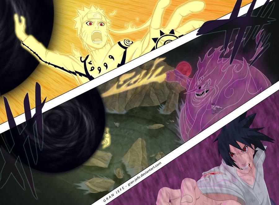 Bijuu Mode Vs Susanoo Bijuu Mode vs Susanoo   Naruto