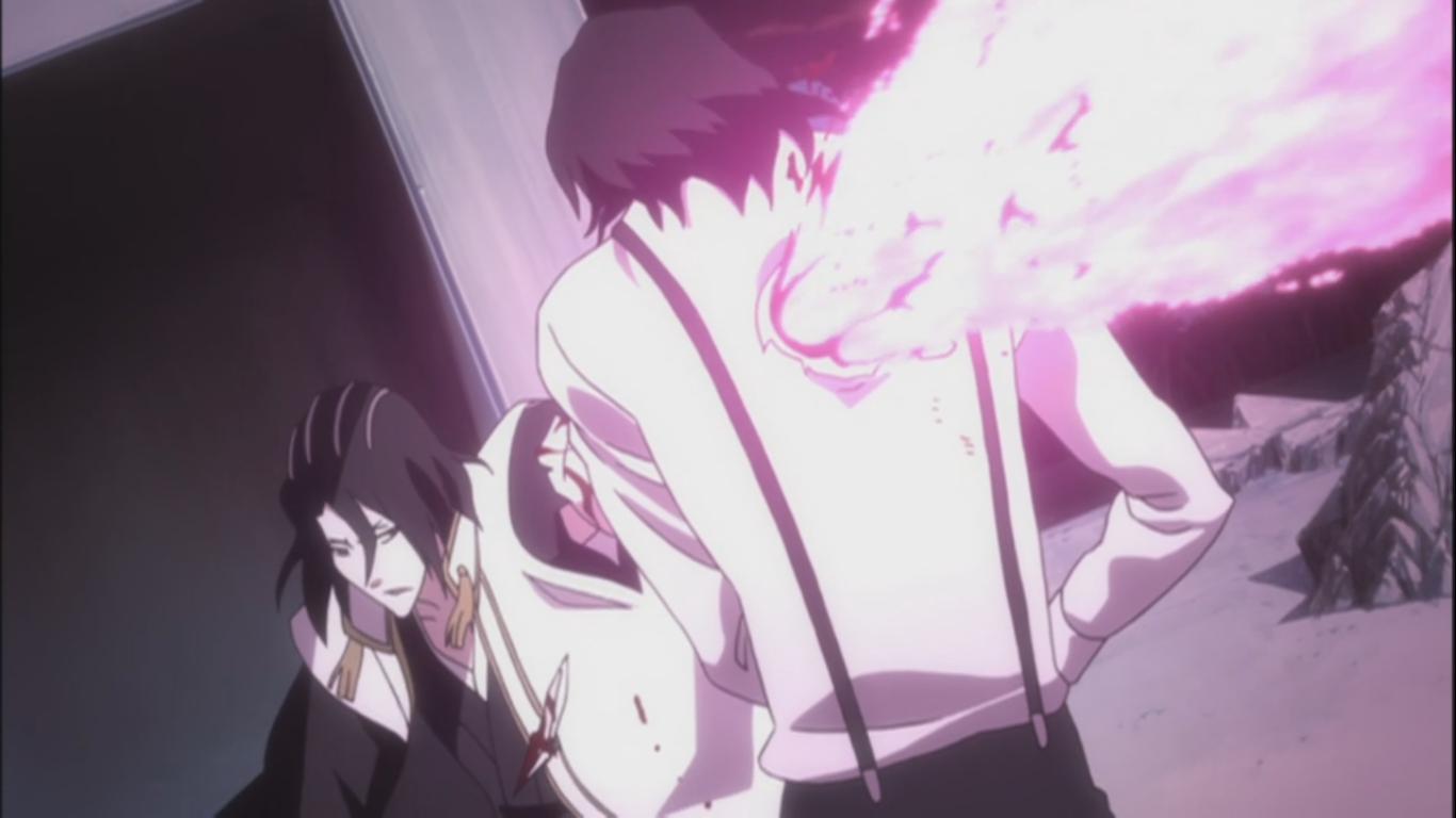 byakuya defeats tsukishima � bleach 364 daily anime art