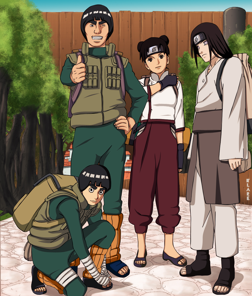 Team Guy – Guy, Neji, Rock Lee And Tenten