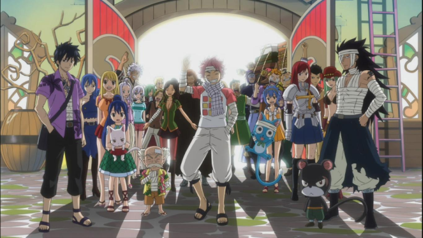 Tenrou team returns fairy tail 123 daily anime art for Www the house com returns