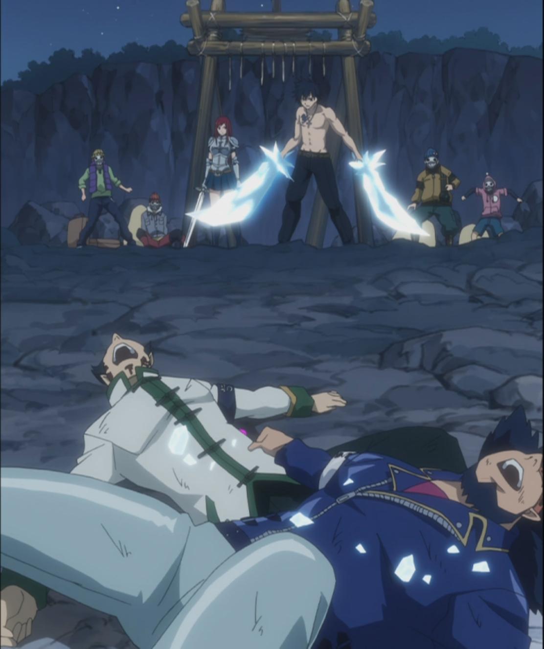 Natsu vs Laxus Fairy Tail 129 Daily Anime Art