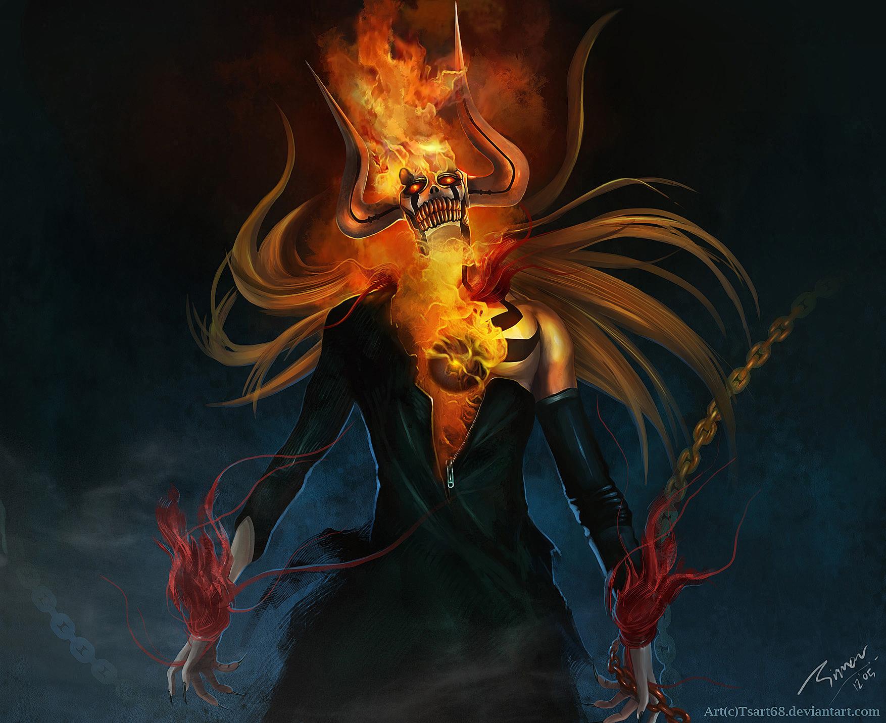 Hollow Rider – Hollow Ichigo and Ghost Rider | Daily Anime Art