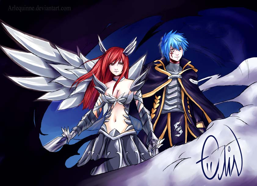 Jellal and Erza – Fairy Tail | Daily Anime Art