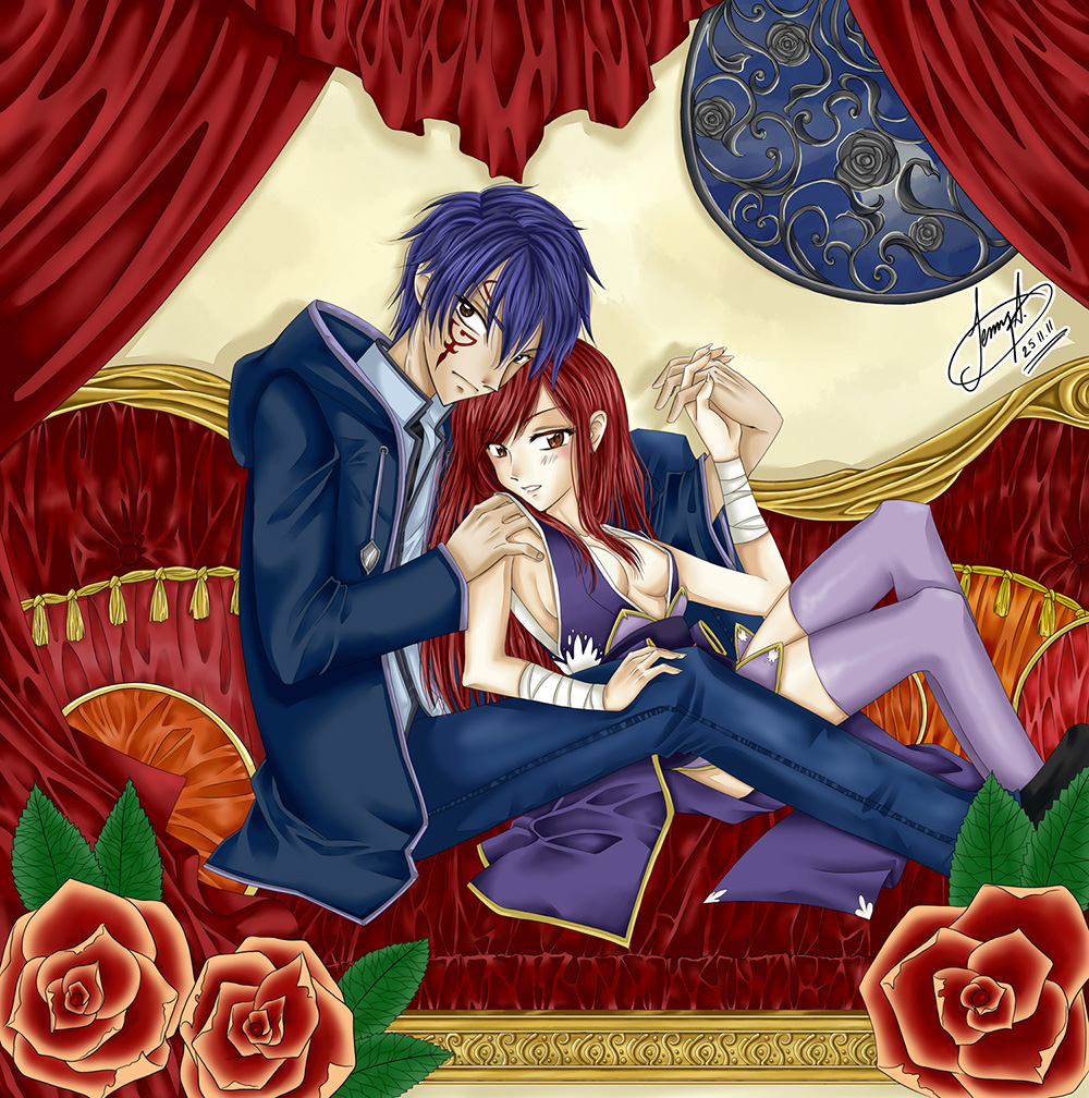 Fairy tail jellal and erza