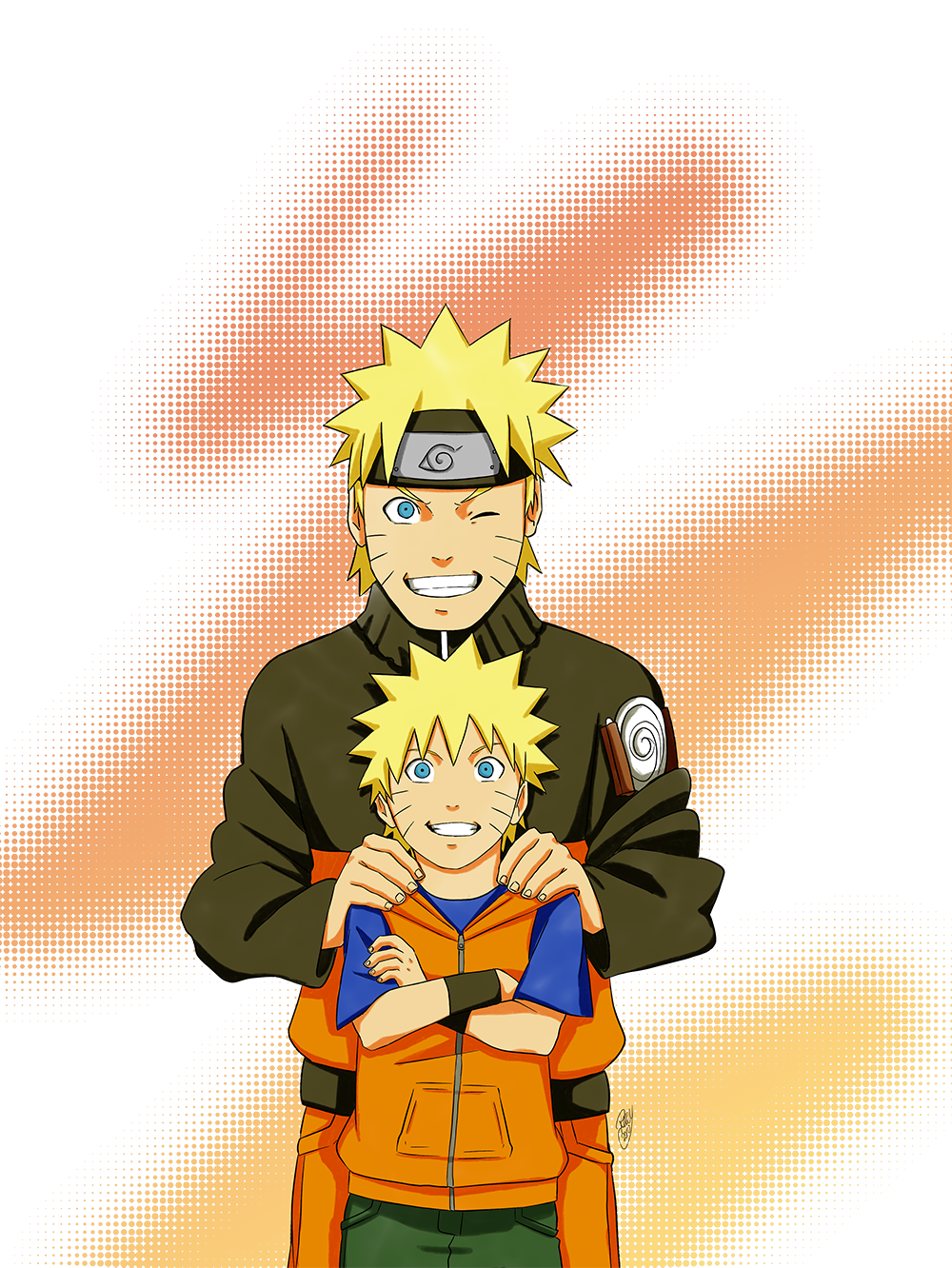 The Kid in Black & Orange – Naruto Uzumaki | Daily Anime Art