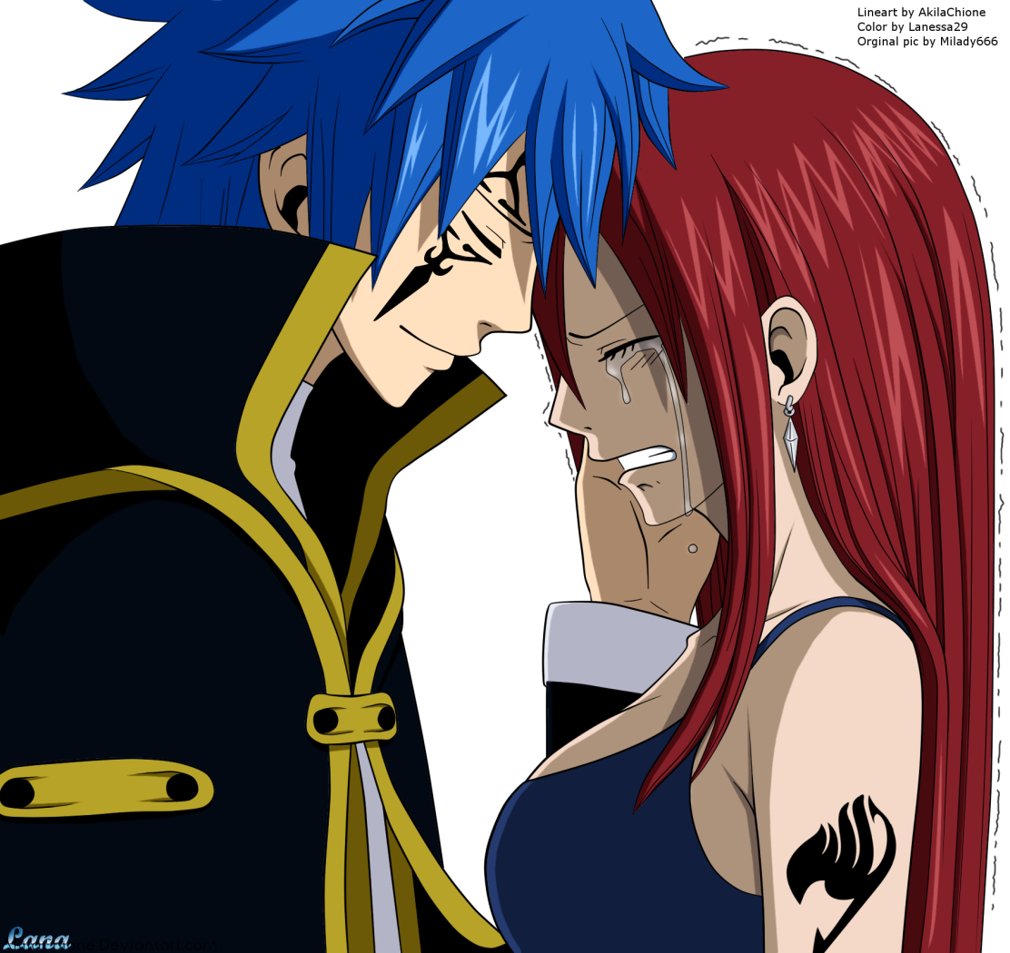 jellal and erza � fairy tail daily anime art