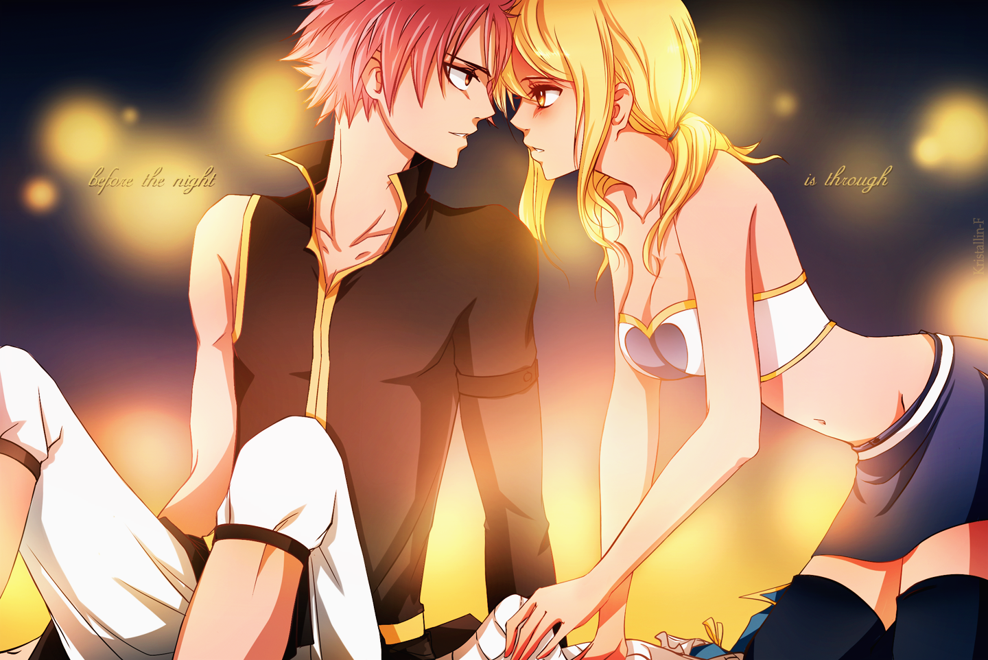 before the night is through natsu amp lucy daily anime art