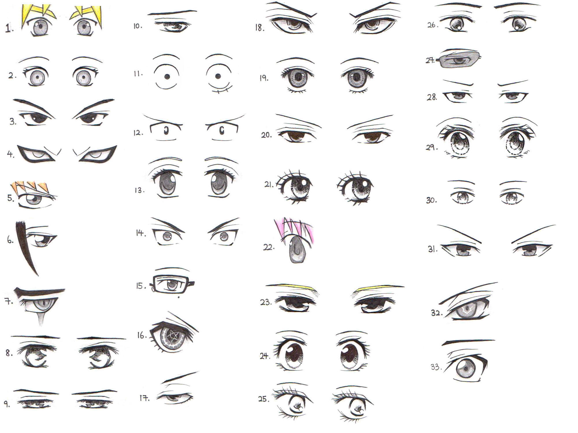 33 Manga And Anime Character Eye References
