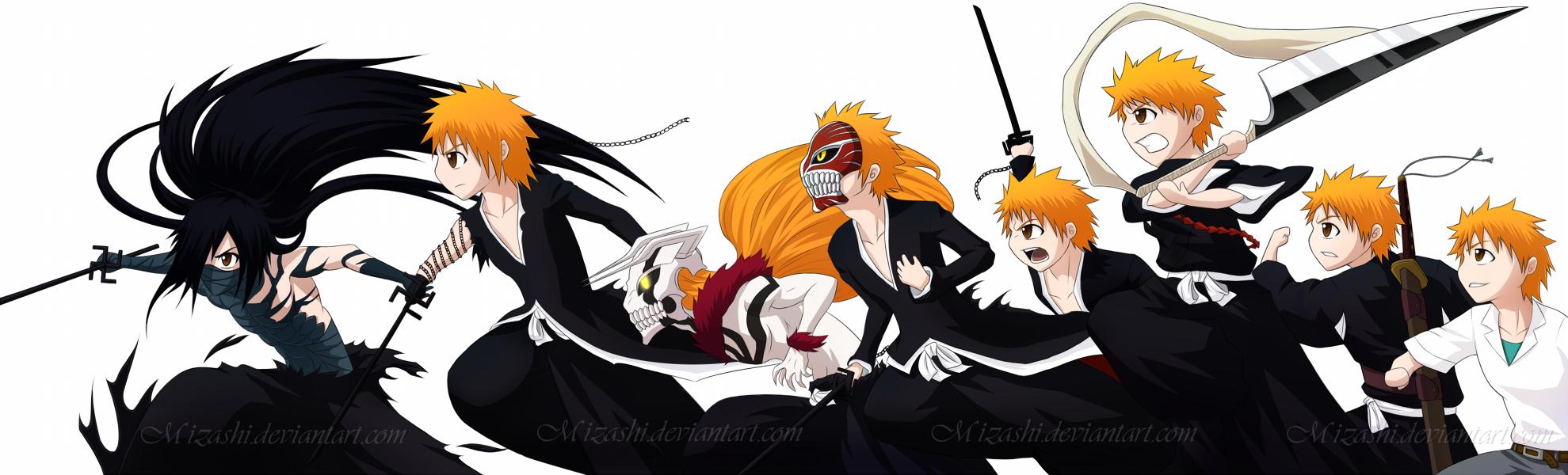Ichigos Chibi Evolution Shinigami To Final Getsuga Tenshou