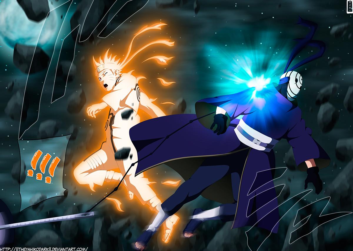 3d Draw Online Tobi Finally Hurt Kakashi S Kamui Works Naruto 596