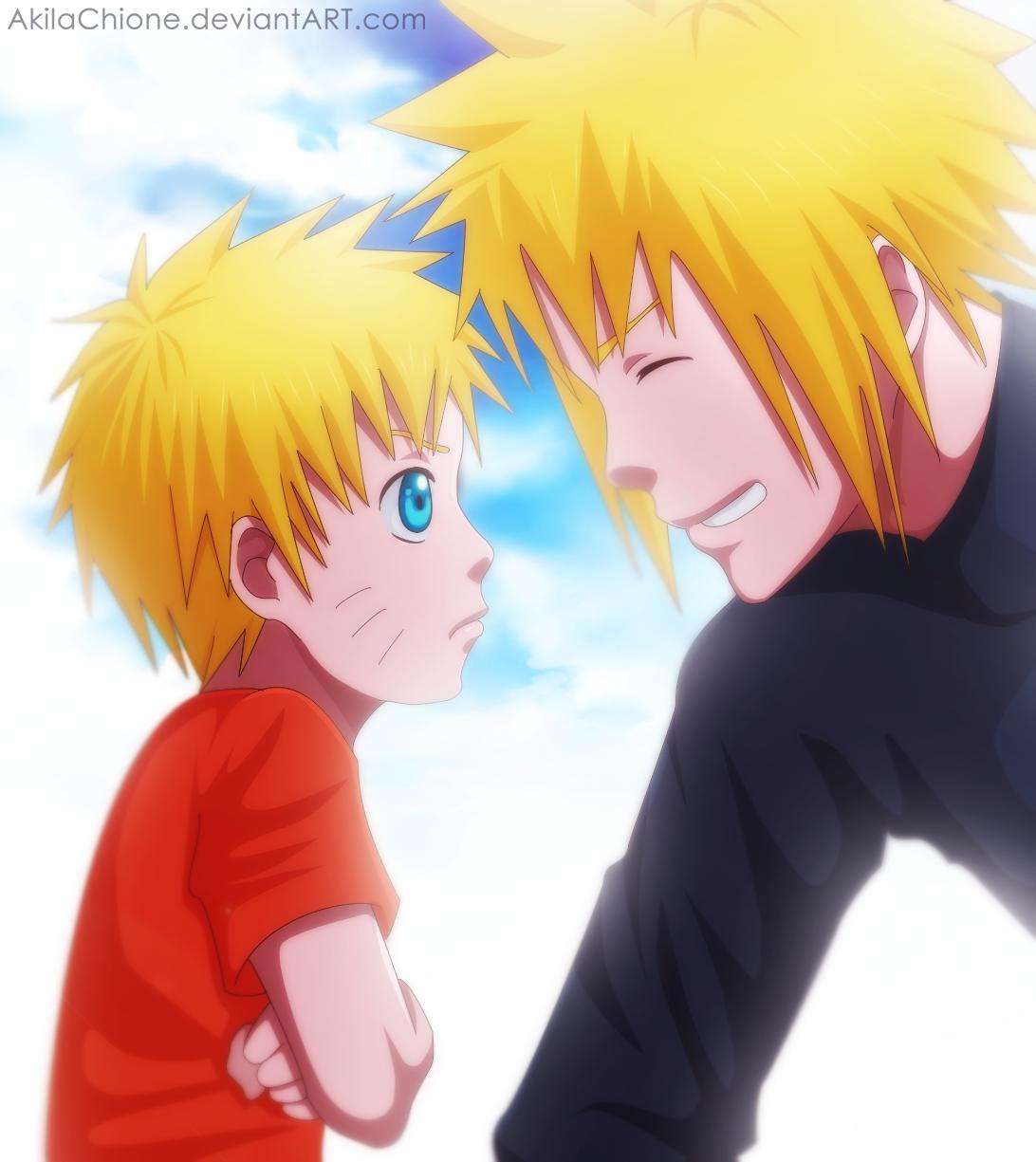 father & son – minato & naruto | daily anime art