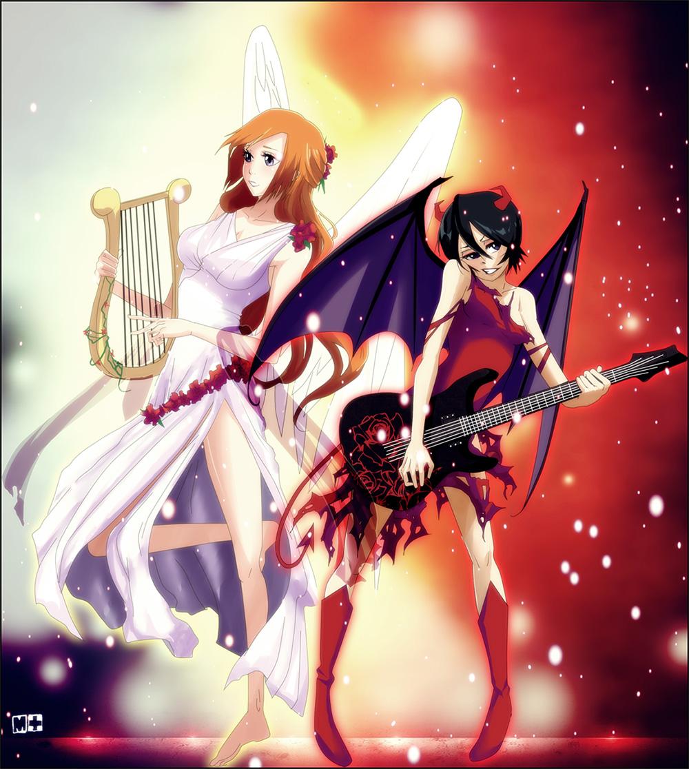 Angel and demon hentai
