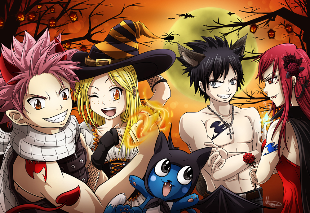 Fairy tail halloween 2012 daily anime art - Image manga fairy tail ...