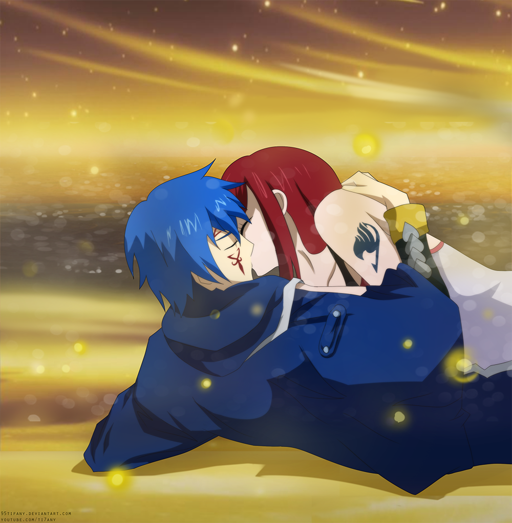 The Kiss – Jellal and Erza | Daily Anime Art