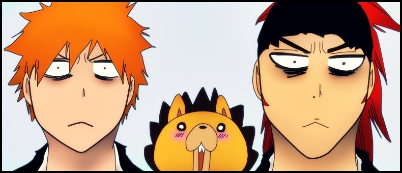 bleach_522__ichigo__kon_and_renji_by_blackstoneangel-d5pwb6r