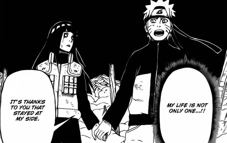 Hinata and Naruto hold hands