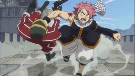 Natsu smashes face