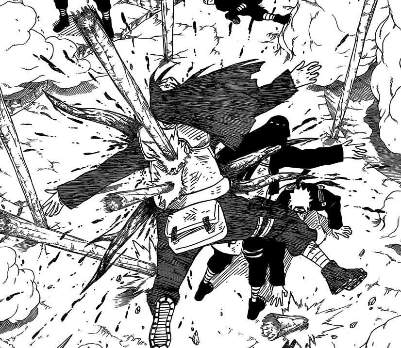 Neji's sacrifice for Naruto and Hinata