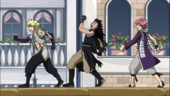 Sting Gajeel and Natsu fail while in Chariot