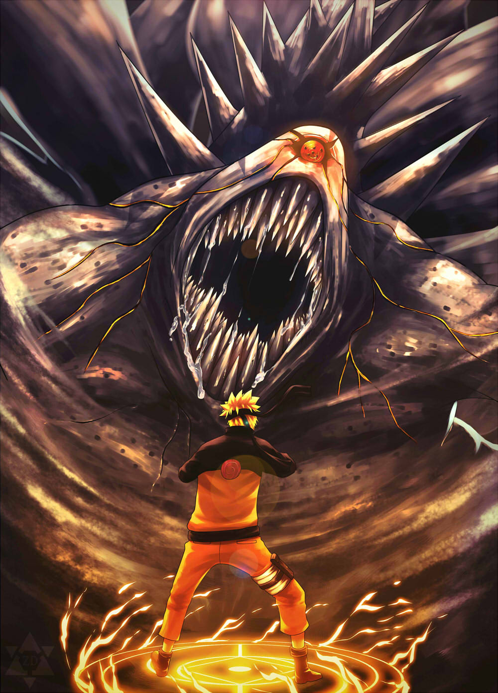 can naruto defeat the ten tails daily anime art