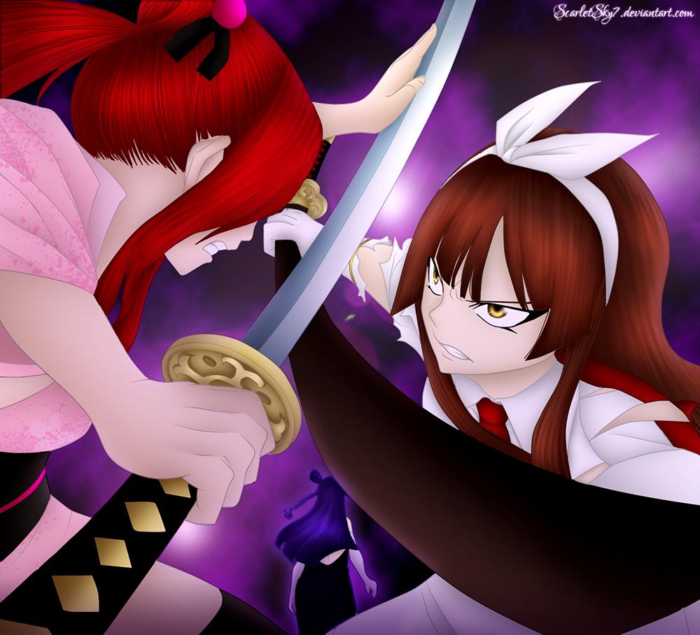 Kagura Angry Against Erza – Gajeel vs Rogue – Laxus vs ...