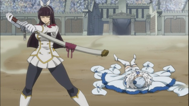 Kagura defeats Yukino and wins
