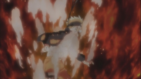 Naruto releasing lots of dark energy