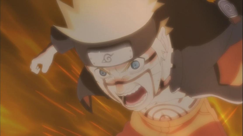 Naruto using Kurama's power