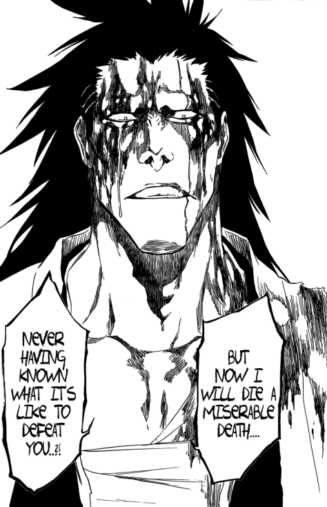 Zaraki death approaches never defeated Unohana