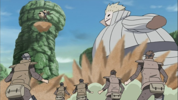 Gaara against Mizukage's Steam Imp