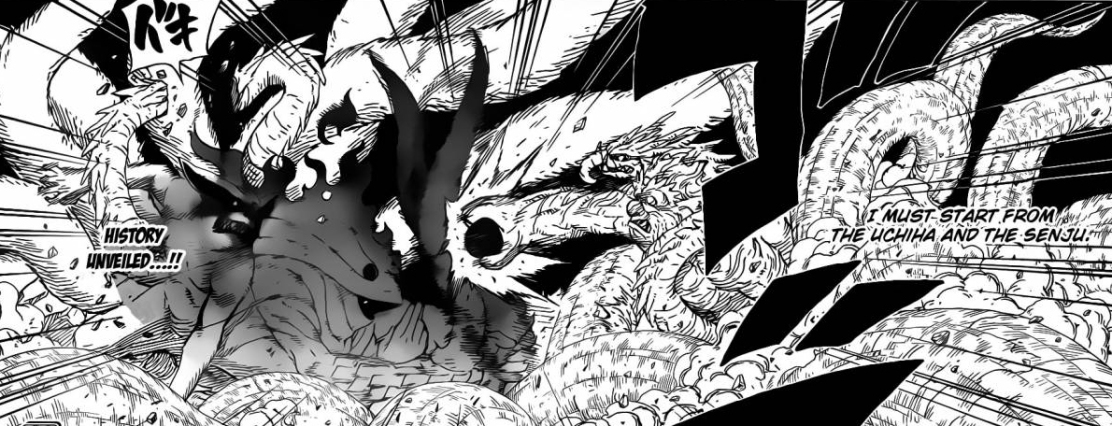 Hashirama's Wood Style against Madara's Susanoo